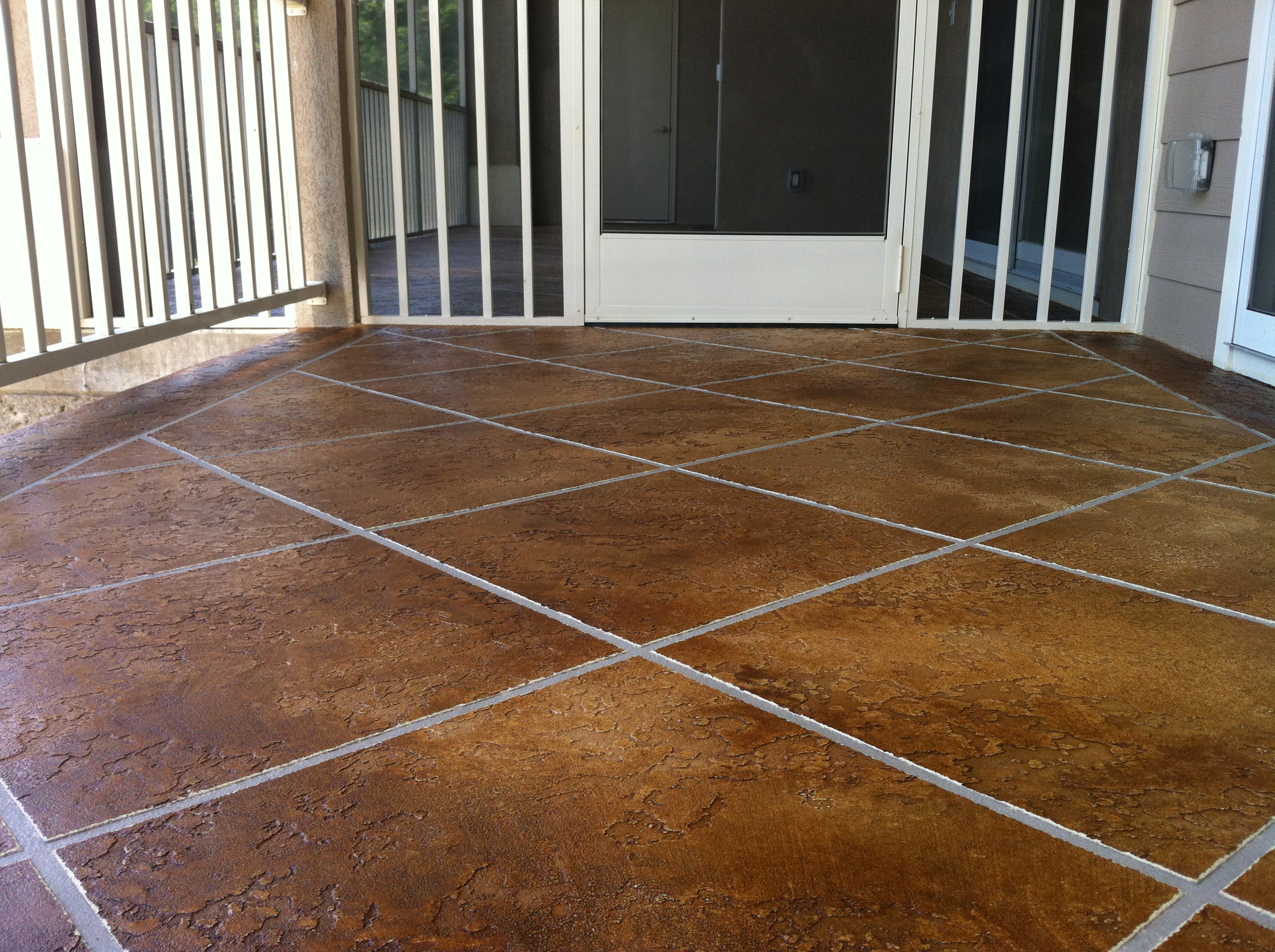 Stamped Concrete Flooring : Anderson job