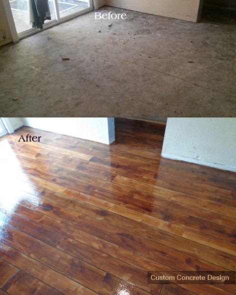 Rustic concrete wood for Flooring for concrete