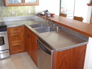 Epoxy countertops vs other counter top options for Stainless steel countertops cost per sq ft