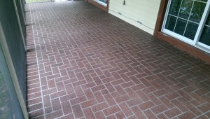 Decorative Concrete Resurfaced Spray Texture