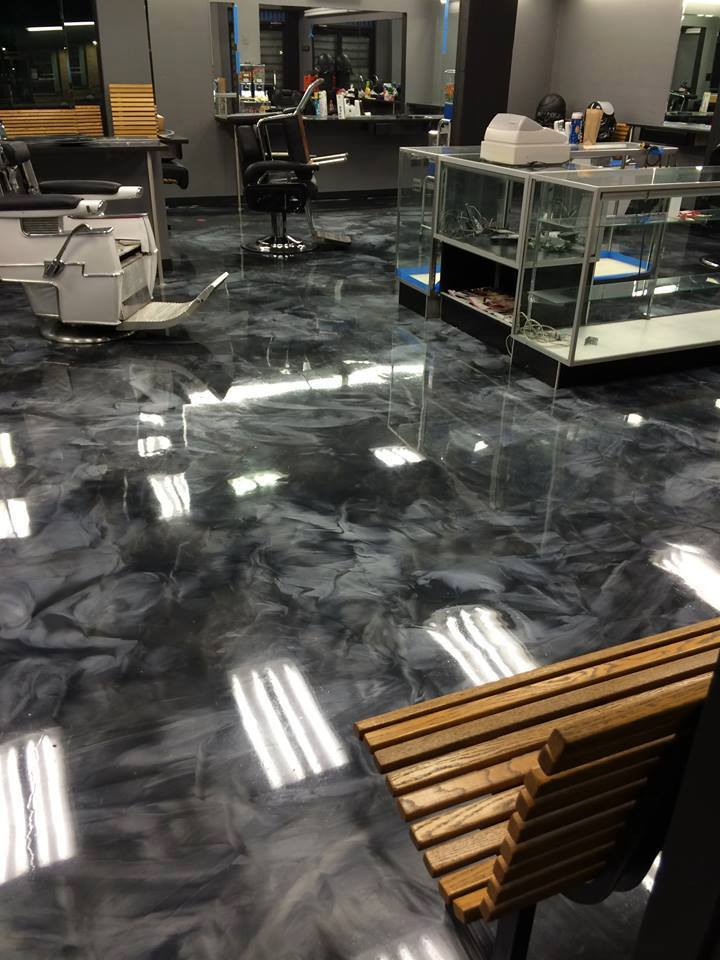 Custom Stained Concrete Floors : Custom concrete design lake ozark decorative